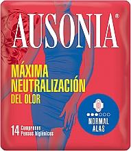 Düfte, Parfümerie und Kosmetik Damenbinden mit Flügeln 14 St. - Ausonia Normal With Wings Sanitary Towels