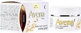 Düfte, Parfümerie und Kosmetik Nachtcreme für empfindliche Haut mit Hanf, Panthenol und Vitamin E - Bione Cosmetics Avena Sativa Night Cream Sensitive Skin