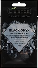 Düfte, Parfümerie und Kosmetik Reinigende Detox Peel-Off Gesichtsmaske mit schwarzem Onyx und schwarzer Rose - Bielenda Crystal Glow Black Onyx Peel-off Mask