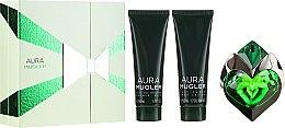 Düfte, Parfümerie und Kosmetik Mugler Aura Mugler Refillable - Duftset (Eau de Parfum/30ml + Körperlotion/50ml + Duschgel/50ml)
