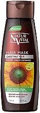 Düfte, Parfümerie und Kosmetik Haarmaske mit Keratin, Henna und Sonnenblumen-Extrakt für Kastanie-Haaren - Natur Vital Coloursafe Henna Hair Mask Chestnut Hair