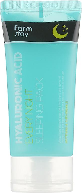 Nachtmaske für das Gesicht mit Hyaluronsäure - FarmStay Hyaluronic Acid Every Night Sleeping Pack — Bild N1