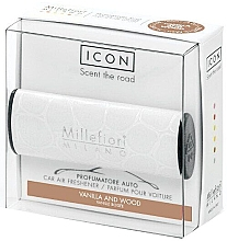 Düfte, Parfümerie und Kosmetik Auto-Lufterfrischer Vanille und Holz - Milano Millefiori Icon Car Urban Fragrance Vanilla & Wood
