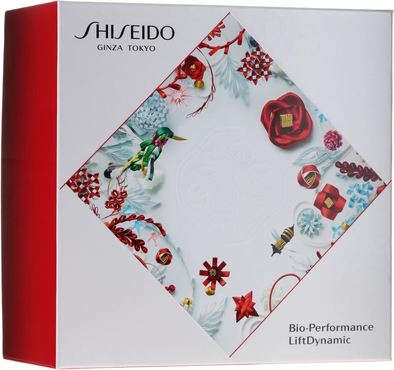 Gesichtspflegeset - Shiseido Bio Performance LiftDynamic Holiday Kit (Gesichtscreme mit Lifting-Effekt 50ml + Reinigungsschaum 15ml + Gesichtslotion 30ml + Energie aktivierendes Serum 5ml)