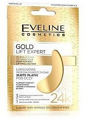 3in1 Anti-Falten Augenpads mit Algen- und Hamamelisextrakt - Eveline Cosmetics Gold Lift Expert Luxury Antiwrinkle Golden Eye Pads — Bild N1