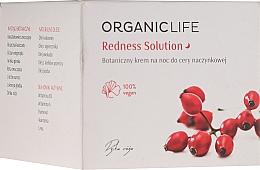 Düfte, Parfümerie und Kosmetik Regenerierende und beruhigende Nachtcreme für Kapillarhaut - Organic Life Dermocosmetics Redness Solution Night Cream