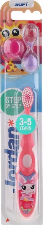 Kinderzahnbürste 3-5 Jahre weich Step by Step rosa mit Giraffe - Jordan — Bild N1
