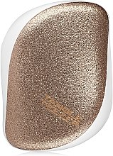 Kompakte Haarbürste mit Glitzer - Tangle Teezer Compact Styler Glitter Gold — Bild N3