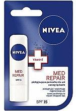 """Düfte, Parfümerie und Kosmetik Pflegender Lippenbalsam """"Med Repair"""" SPF 15 - Nivea Med Repair Lip Care SPF15"""