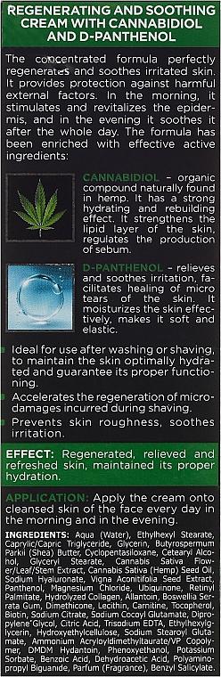 Regenerierende und beruhigende Gesichtscreme mit Cannabidiol und D-Panthenol - Bielenda Only For Men Regenerating And Soothing Cream — Bild N3