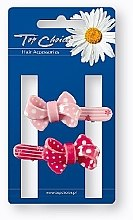 Düfte, Parfümerie und Kosmetik Krokodil-Haarspangen 24894 rosa, rot 2 St. - Top Choice
