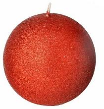 Düfte, Parfümerie und Kosmetik Dekorative Kerze in Kugelform rot 8 cm - Artman Glamour