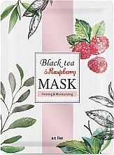 Düfte, Parfümerie und Kosmetik Feuchtigkeitsspendende und straffende Tuchmaske - A:t fox Black Tea Raspberry Mask