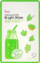 Düfte, Parfümerie und Kosmetik Aufhellende Tuchmaske mit Grünkohl - Prreti Cleanse Juice One Pack