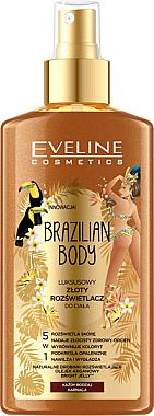 Highlighter für Körper mit Pfeffer- und Arganöl 5in1 - Eveline Cosmetics Brazilian Body Luxury Golden Body — Bild N1