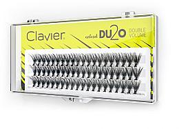 Düfte, Parfümerie und Kosmetik Künstliche Wimpernbüschel für doppeltes Volumen 11 mm - Clavier DU2O Double Volume