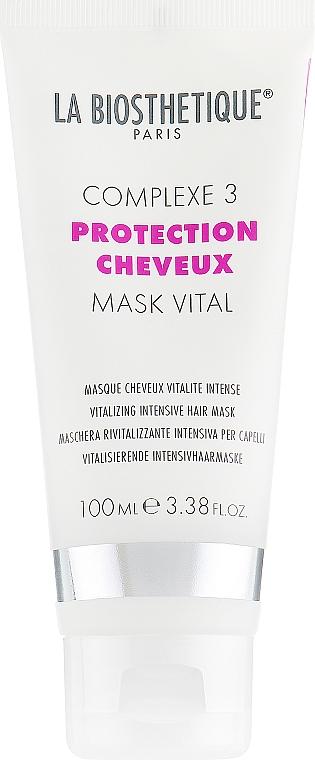 Intensiv pflegende und revitalisierende Haarmaske für mehr Glanz mit Arganöl und Hydrolipid-Komplex - La Biosthetique Protection Cheveux Mask Vital — Bild N1