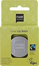 Düfte, Parfümerie und Kosmetik Lippenbalsam Limette mit Aprikosen-, Mandelöl & Sheabutter - Fair Squared Lip Balm Lime