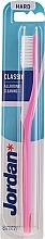 Zahnbürste hart Classic rosa - Jordan Classic Hard Toothbrush — Bild N1