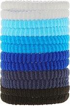 Düfte, Parfümerie und Kosmetik Haargummis blau Mix 12 St. - Top Choice