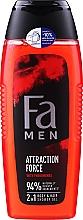 Düfte, Parfümerie und Kosmetik 2in1 Duschgel für Körper und Haar mit Pheromonen - Fa Attraction Force Shower Gel