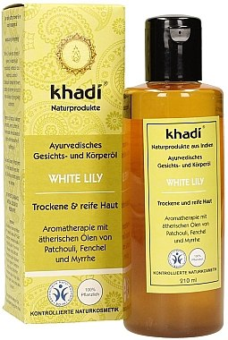 """Ayurvedisches Gesichts- und Körperöl """"Weiße Lilie"""" - Khadi — Bild N2"""