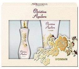 Düfte, Parfümerie und Kosmetik Christina Aguilera Woman - Duftset (Eau de Parfum 30ml + Duschgel 50ml)