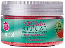 Düfte, Parfümerie und Kosmetik Körperpeeling mit Wassermelone - Dermacol Aroma Ritual Body Scrub Fresh Watermelon