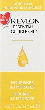 Nährendes und feuchtigkeitsspendendes Nagelhautöl - Revlon Essential Cuticle Oil Nail Care — Bild N1