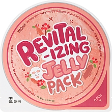 Düfte, Parfümerie und Kosmetik Revitalisierende Tuchmaske für das Gesicht mit Ginsengextrakt - Yadah Revitalizing Jelly Pack