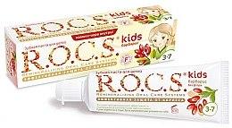 Düfte, Parfümerie und Kosmetik Fluoridfreie Anti-Karies Kinderzahnpasta 3-7 Jahre - R.O.C.S. Kids Barberry Toothpaste