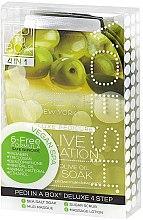 Düfte, Parfümerie und Kosmetik 4-stufige Olive Sensation Fußpflege - Voesh Deluxe Pedicure Olive Sensation In A Box 4in1 (1. Meer Badesalz, 2. Zuckerpeeling, 3. Schlammmaske, 4. Massagebutter)(35 g)