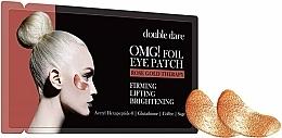 Düfte, Parfümerie und Kosmetik Aufhellende und festigende Augenpatches - Double Dare Omg! Foil Eye Patch Rose Gold Therapy
