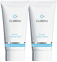 Düfte, Parfümerie und Kosmetik Körperpflegeset - Clarena Body Advanced Line Caviar (Duschgel 30ml + Körpercreme 30ml)
