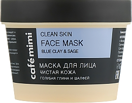 Reinigende Gesichtsmaske mit blauer Tonerde und Salbei - Cafe Mimi Clean Skin Face Mask — Bild N2