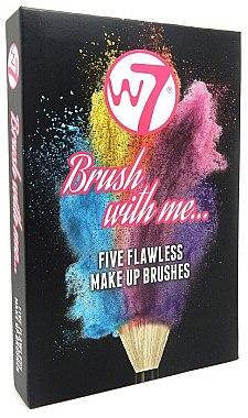 "Zestaw pędzli do makijażu ""Brush With Me"" - W7 Five Flawless Make Up Brushes — Bild N1"