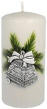 Düfte, Parfümerie und Kosmetik Dekorative Kerze Christmas Bells Silber - Artman Christmas Candle Christmas Bells Ø7xH14cm