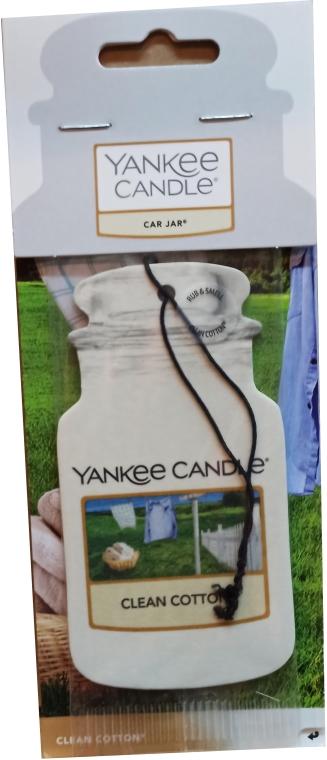 Papier-Lufterfrischer Clean Cotton - Yankee Candle Car Jar Clean Cotton