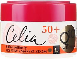 Düfte, Parfümerie und Kosmetik Halbfettige Anti-Falten Gesichtscreme mit Coenzym Q10 und Vitaminen E, C und F 50+ - Celia Q10 Vitamin 50+