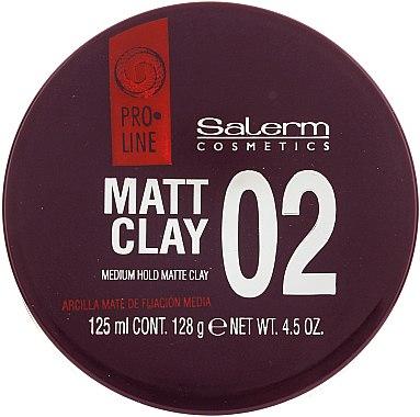 Mattierende Tonerde für das Haar Mittlerer Halt - Salerm Pro Line Matt Clay — Bild N1