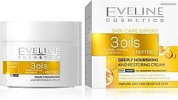 Düfte, Parfümerie und Kosmetik Regenerierende Gesichtscreme mit Tsubaki-, Macadamia- und Manukaöl - Eveline Cosmetics Skin Care Expert 3 Oils Cream