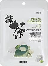 Düfte, Parfümerie und Kosmetik Tuchmaske für das Gesicht mit Grüntee-Extrakt - Mitomo Green Tea Essence Mask