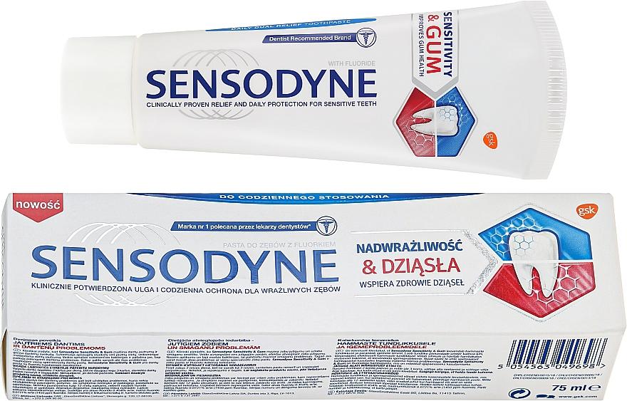 Zahnpasta für Schmerzempfindlichkeit und Zahnfleischbluten Sensitivity & Gum - Sensodyne Sensitivity & Gum — Bild N1