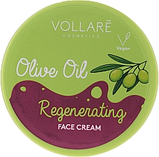 Düfte, Parfümerie und Kosmetik Regenerierende Gesichtscreme mit Olivenöl - Vollare Regenerating Olive Oil Face Cream