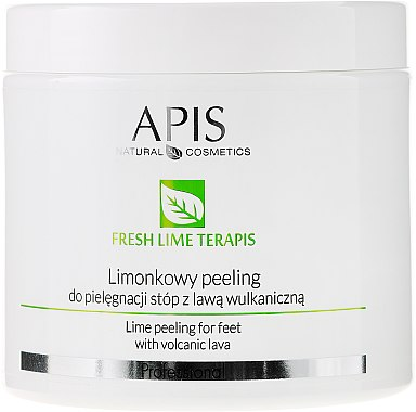Fußpeeling Lime mit vulkanischer Lava - APIS Professional Fresh Lime Terapis Lime Peeling For Feet With Volcanic Lava — Bild N1