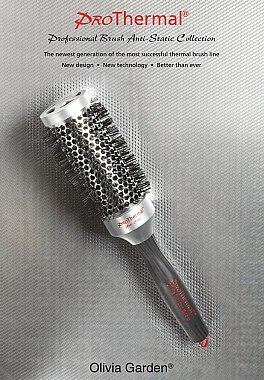 Extraweiche Rundbürste für feines, dünnes und coloriertes Haar 33 mm - Olivia Garden Pro Thermal — Bild N2