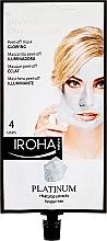 Düfte, Parfümerie und Kosmetik Peel-Off Maske mit Platinum - Iroha Nature Platinum Peel Off Mask Glowing 4 Uses