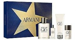 Düfte, Parfümerie und Kosmetik Giorgio Armani Acqua Di Gio Pour Homme - Duftset (Eau de Toilette 100ml+Eau de Toilette 15ml+After Shave Balsam 75ml+Deostick 75g)