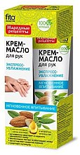 Düfte, Parfümerie und Kosmetik Feuchtigkeitsspendendes Creme-Öl für die Hände - Fito Kosmetik Volksrezepte