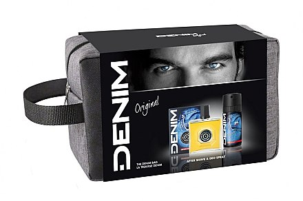 Denim Original - Duftset (After Shave 100 ml + Deo Spray 50 ml + Kosmetiktasche) — Bild N1